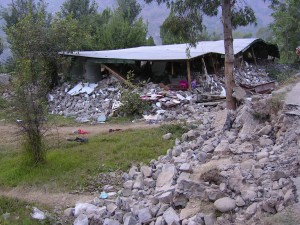 Pakistan Village destroyed